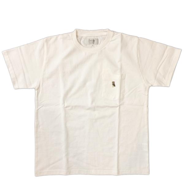 ソンタク 【SONTAKU】 ミドルウエイト S/S POCKET T-SHIRTS ポケTシャツ フクロウ WHITE