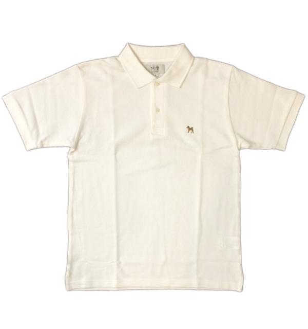 ソンタク 【SONTAKU】 ポロシャツ POLO SHIRTS 柴犬 WHITE