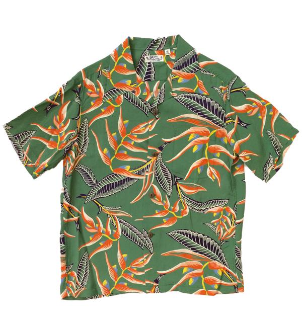 サンサーフ 【SUN SURF】 アロハシャツ ALOHA SHIRTS HANGING HELICONIA GREEN