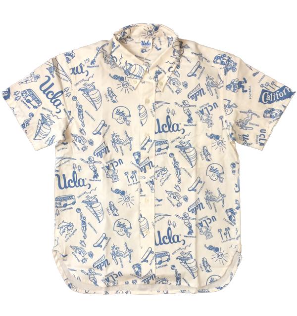 チェスウィック 【Cheswick】  半袖プリントオックスフォードボタンダウンシャツ S/S UCLA OXFORD B.D.PRINT SHIRT