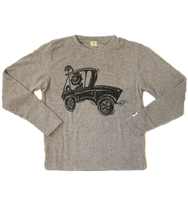 ザエンドレスサマー 【THE ENDLESS SUMMER】 両面パイルロンT COMFORTABLE PILE HOTO ROD SURF L/S TEE GRAY