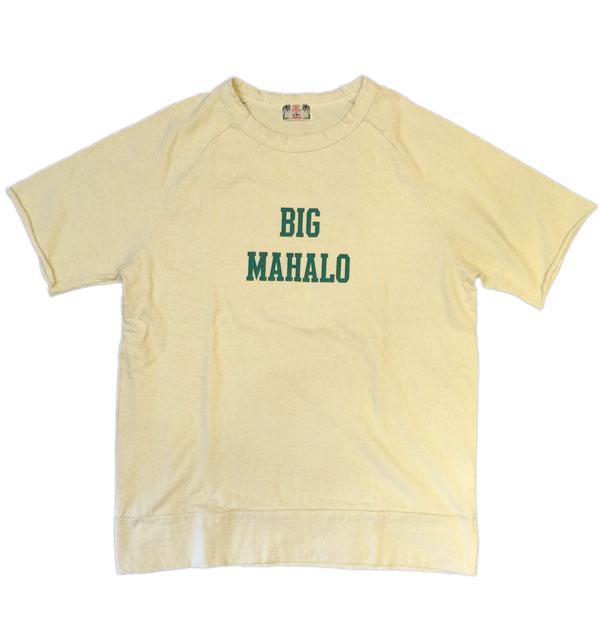 ユーエムアイコホラ 【U.M.I KOHOLA】 リサイクルコットンリブTシャツ BIG MAHALO NATURAL