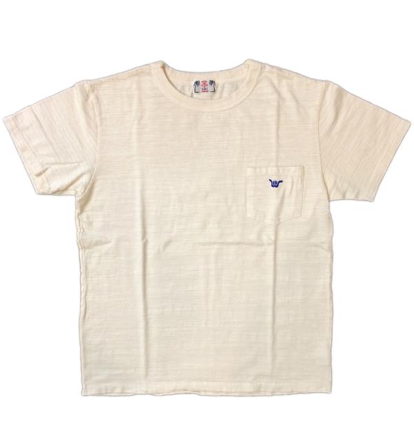 U.M.I KOHOLA 【ユーエムアイ コホラ】 スラブポケットTシャツ HANGLOOSE NATURAL