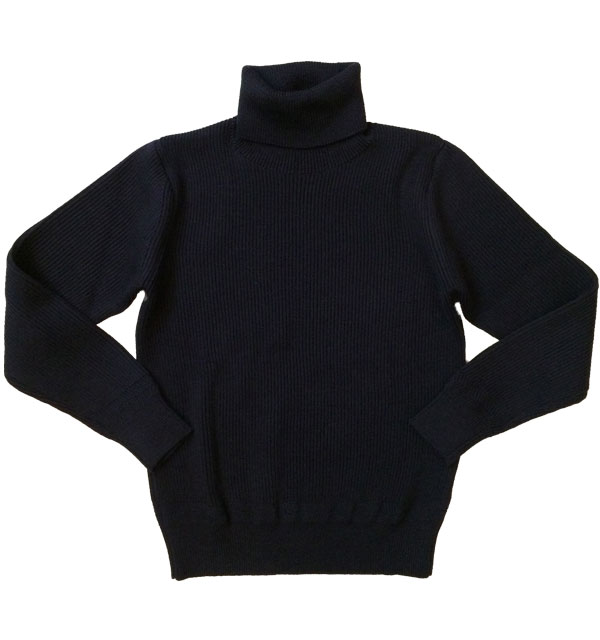 ヴァンソンエミレイユ 【Vincent et Mireille】 TURTLENECK SWEATER タートルネックセーター NAVY