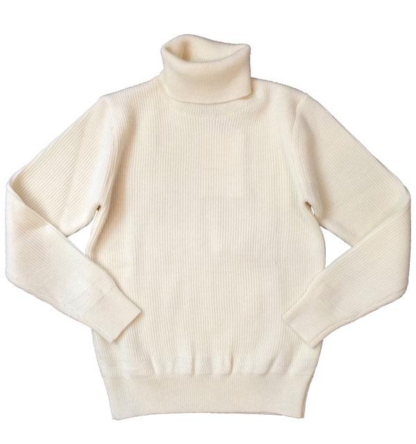 ヴァンソンエミレイユ 【Vincent et Mireille】 TURTLENECK SWEATER タートルネックセーター WHITE