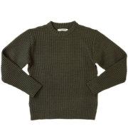 �������ɥ˥åȥ���� ��ISLAND KNIT WORKS�� Waffle Crewneck Sweater ��åե륯�롼�ͥå��������� OLIVE
