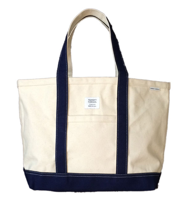 パロットキャンバス 【PARROT CANVAS】 MEDIUM TOTE DUCK NATURAL/NAVY