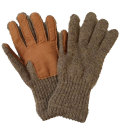 �˥塼�٥꡼�˥åƥ��󥰡���NEW BERRY KNITTING�ۡ�Newteck lined ragg wool Glove with Deerskin Palm��BROWN��LADIES ONE SIZE
