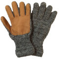 �˥塼�٥꡼�˥åƥ��󥰡���NEW BERRY KNITTING�ۡ�Newteck lined ragg wool Glove with Deerskin Palm��CHARCOAL��LADIES ONE SIZE