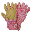 �˥塼�٥꡼�˥åƥ��󥰡���NEW BERRY KNITTING�ۡ�Newteck lined ragg wool Glove with Deerskin Palm��CHERRY��MENS ONE SIZE
