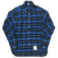 �楢��˥ե����ࡡ����YOUR UNIFORM��SAN�ˡۡ�Nel Check B.D Shirt Elbow Patch��BLUE