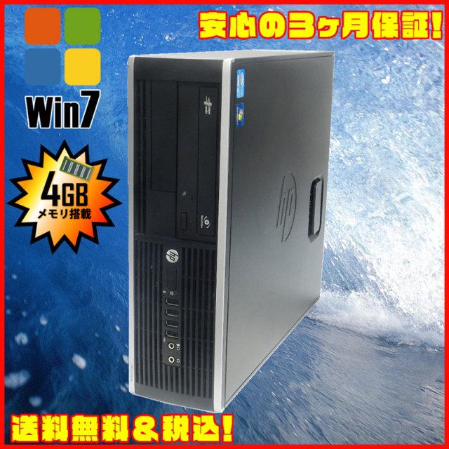 ▼- HP Compaq 6200 Pro SFF Core i3 3.1GHz メモリ:4G HDD:250GB DVDマルチ搭載 KingSoft Office付きデスクトップPC★