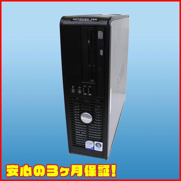 DELL Optiplex 755 SF Celeron 2.0GHz HDD:80GB DVD-ROM Windows XP Pro 中古デスクトップパソコン★