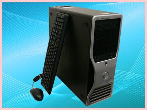 =▼【グラボ搭載】【送料無料】【安心3カ月保証】 中古パソコン DELL(デル) Precision T3500 XeonW3565-3.20GHz FX3800 MEM:8GB Quadro FX3800 Windows7-Pro 64Bit セットアップ済み kingsoft 0ffice 付【中古PC】