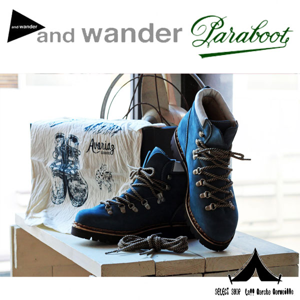 【and wander】 アンドワンダー×パラブーツ Trekking Boots by Paraboot トレッキングブーツ [AW-AA937]