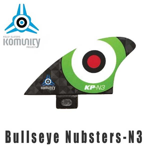 KOMUNITY PROJECT コミュニティ フィン Bullseye Nubsters-N3 グリーン/サーフィン ショートボード クワッド