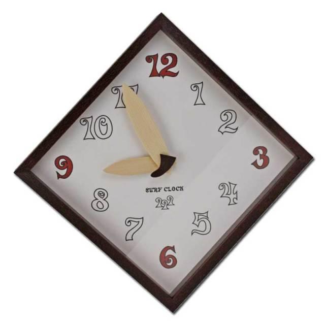 アートフレーム壁掛け時計 「Surf Clock」CAC51555 カラーブラウン/インテリア時計 小物・雑貨