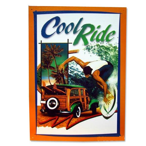 アメリカンブリキ看板 「Cool Ride」 LGP-826/サインプレート看板 サインボード アルミニウムプレート アメリカ雑貨