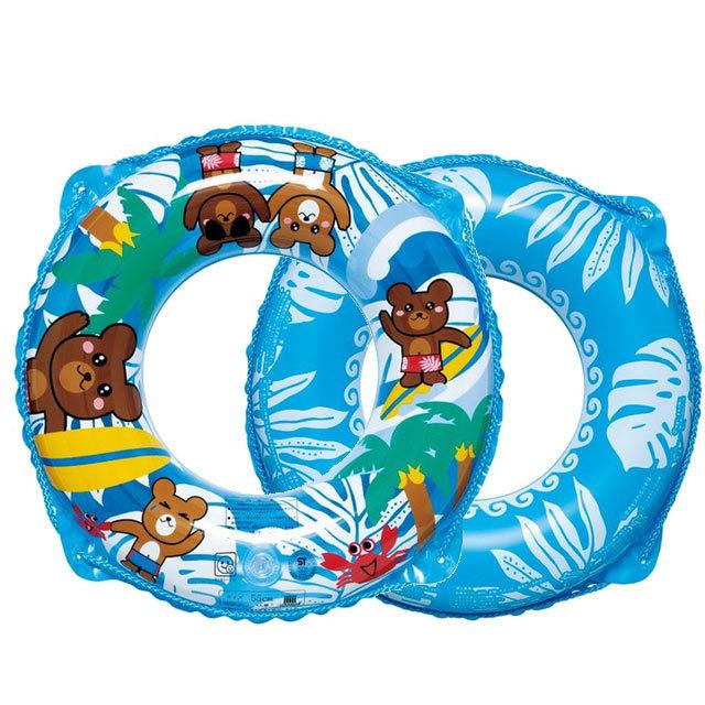 くまさんビーチウキワ 55cm お子様用浮き輪 RGP-355/水遊びグッズ 浮き袋
