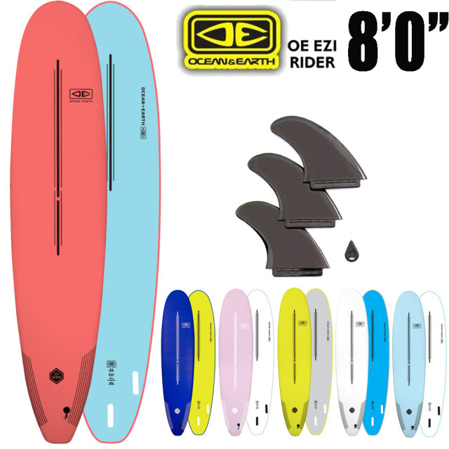 OCEAN&EARTH EZI RIDER SOFT BOARD 8'0 サーフボード ソフトボード / 初心者用ボード サーフィン