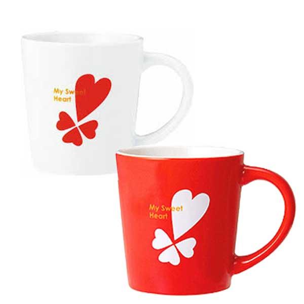 ハートプリントマグカップ/バレンタイン ホワイトデープレゼント ギフト