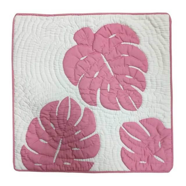 ハワイアンキルト クッションカバー46cm×46cm ピンク/インテリア Hawaiianquilt ハワイアン雑貨