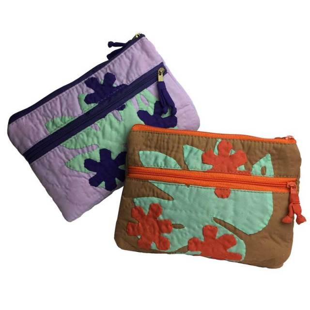 ハワイアンキルト Hawaiian Quilt ポーチ/ 化粧ポーチ 小物入れ ハワイアン雑貨