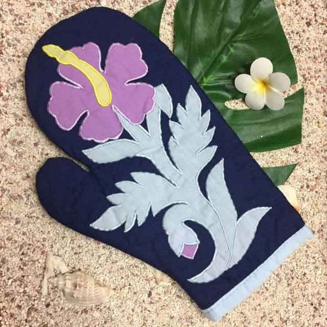 ハワイアンキルト Hawaiian Quilt  ハイビスカス柄鍋つかみ