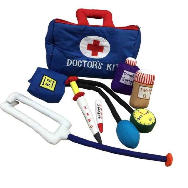 ハワイアンキルトグッズ おもちゃおままごとセット『DOCTOR'S KIT~ドクターズキット』/ハワイアン雑貨 インテリア 知育おもちゃ