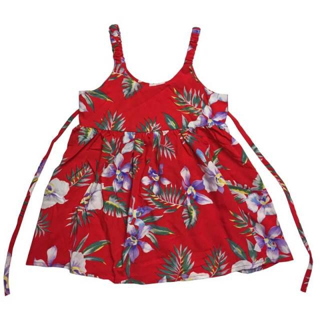 子供服ハワイアンムームー ラン柄キッズワンピース 3歳~4歳/女の子用ワンピース