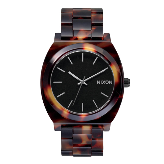 NIXON ニクソン腕時計 THE TIME TELLER ACETATE TORTOISE/GOLD