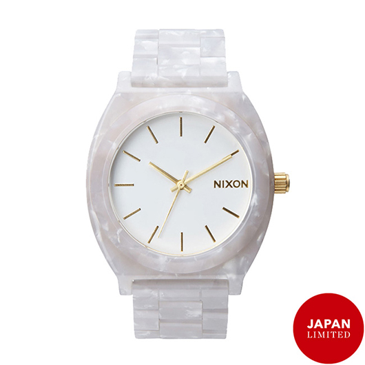 NIXON ニクソン腕時計 THE TIME TELLER ACETATE WHITE GRANITE/GOLD/メンズ【