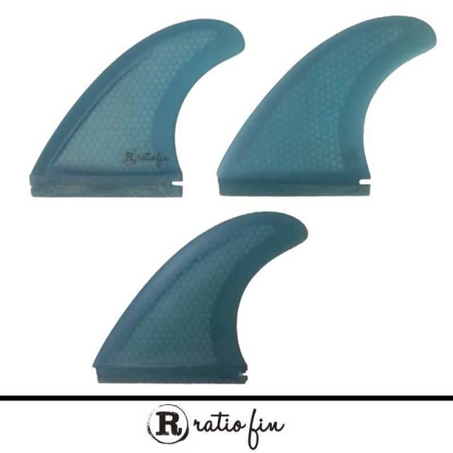 ratio fin レイシオフィン RS-FMSスピードフィン Medium ブルー 3フィン FUTURE/ショートボードフィン