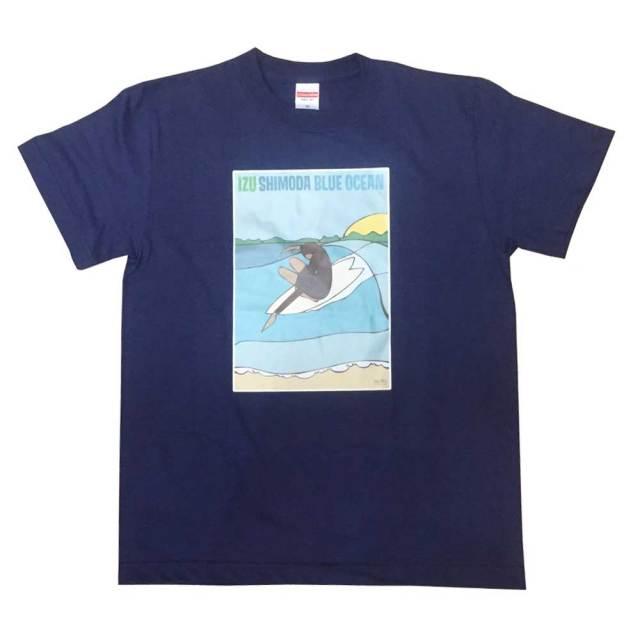 Andy Davis IZU SIMODA BLUE OCEAN T-Shirts アンディディビス ネイビー/メンズウェア レディースウェア サーフィン