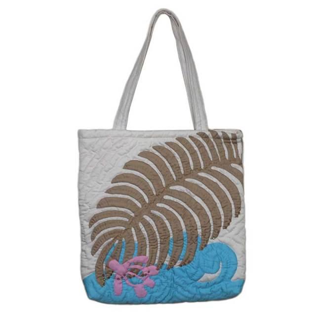 Hawaiianquilt ハワイアンキルトバッグ モンステラ柄トートバッグ/ レディースバッグ  ハワイアン雑貨