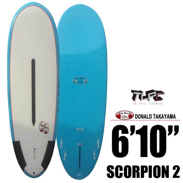Hawaiian Pro Designs ドナルドタカヤマ SURFTECH SCORPION 2 6'4/サーフボード ショートボード エポキシ サーフィン