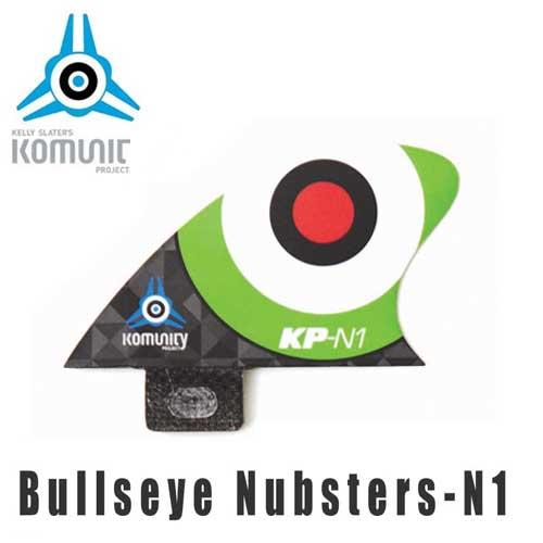 KOMUNITY PROJECT コミュニティ フィン Bullseye Nubsters-N1 グリーン/サーフィン ショートボード クワッド