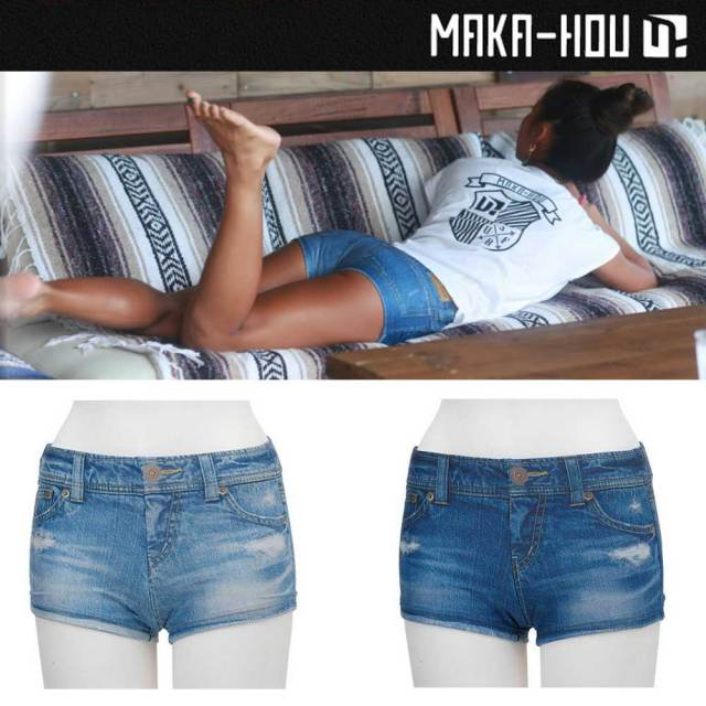 MAKA-HOU デニムプリントパン DENIM PRINT PANTS 41W05/61S/女性用水着