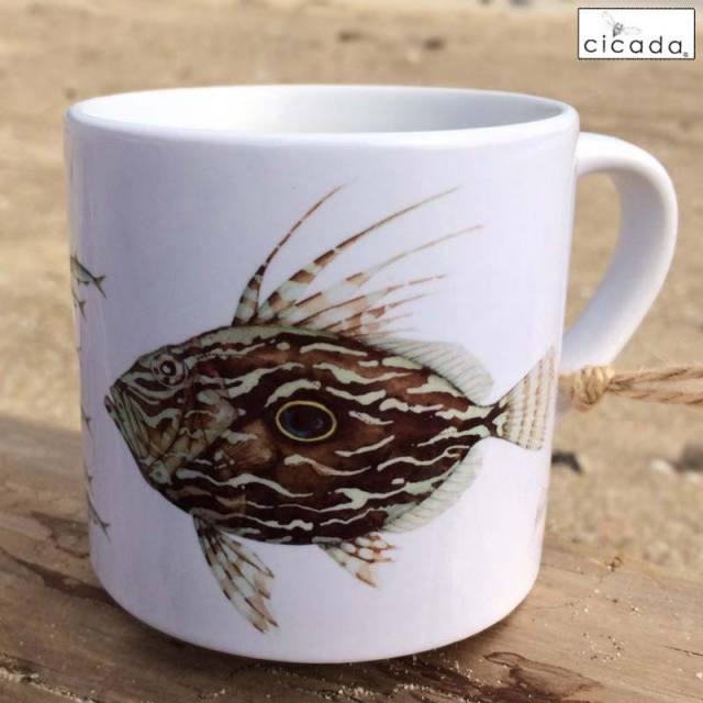 cicada お魚マグカップ/ラッセル・ウィルス