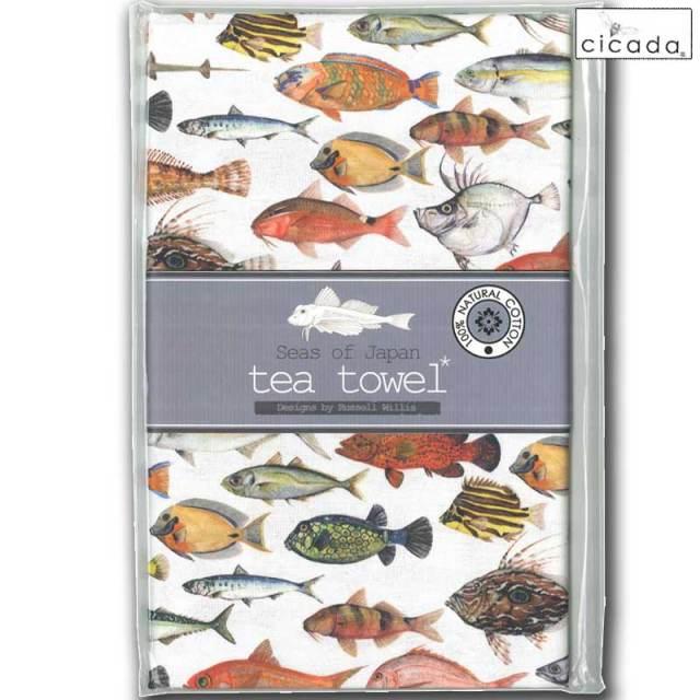 cicada ティータオル 手ぬぐい Tropical Fish/トロピカルフィッシュ テーブルクロス