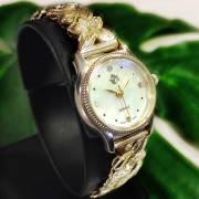 ハワイアンジュエリー シルバー925 撥水腕時計プルメリア スクロール アクセサリー Hawaiian jewely