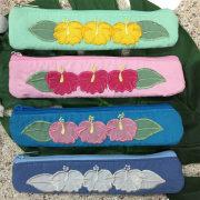 ハワイアンキルト Hawaiian Quilt ハイビスカス スリムペンケース /筆入れ 小物入れ ハワイアン雑貨