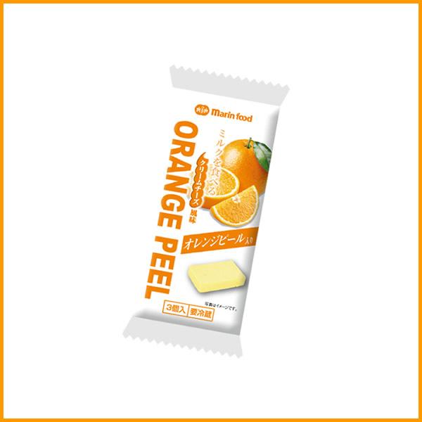 ミルクを食べるクリームチーズ風味オレンジピール入り