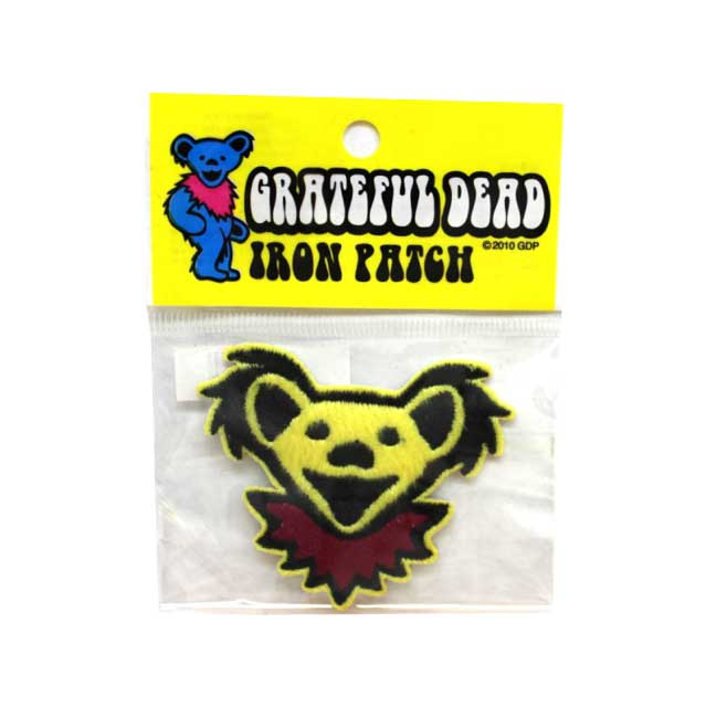 GD BEAR HEAD FURRE PATCH YELLOW ( イエロー )
