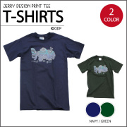 FISH BATIK T-SHIRTS NAVY/GREEN