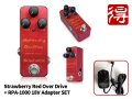 One Control Strawberry Red Over Drive + RPA-1000 18V adapter SET�ʿ��ʡˡ�����̵����