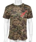 ドライカモフラージュTシャツMQ01 ピクセル ウッドランド