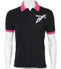 カノコポロシャツMQ02 ブラック/ピンク