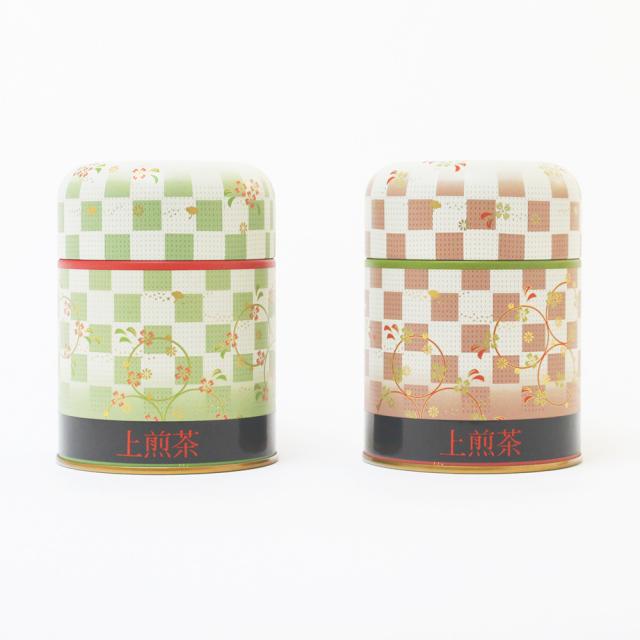 市松/上掛川深蒸し茶 上煎茶 老寿(ろうじゅ)100g缶×2本 箱入