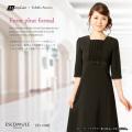 アウトレット e-sale-15(ES-1088) フロントプリーツワンピース/9号/[喪服/礼服/通販/ブラックフォーマル][p2]